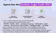Usulan Penilaian Angka Kredit (PAK) Dan Kenaikan Pangkat Jabatan Fungsional Golongan II S.D. IVA